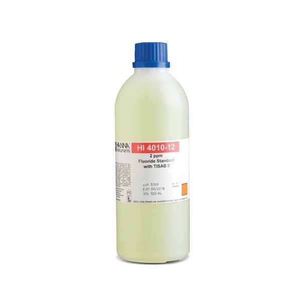 HI4010-12 Fluoride ISE (2ppm Standard) with TISAB ¶ (500ml)