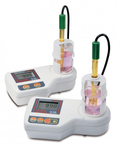 HI208-02 Education pH Benchtop Meter with Built-In Magnetic Stirrer