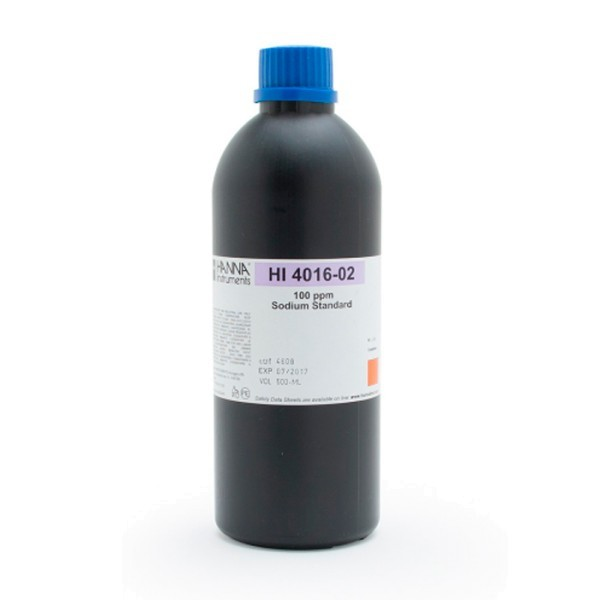 HI4016-02 Sodium ISE 100ppm Standard, 500ml