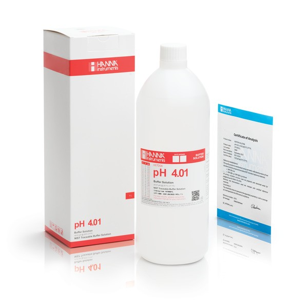 HI 7004L 4.01 pH Buffer Solution 1 x 500 mL bottle