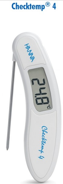 HI151 Checktemp® 4 Temperature Tester with folding probe