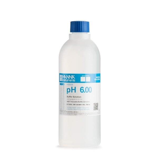 HI5006 pH 6.00 @ 25°C Technical Calibration Buffer Solution, 500ml