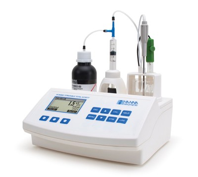 HI84502-02 Mini-Titrator for Total Acidity + pH/mV/°C Meter