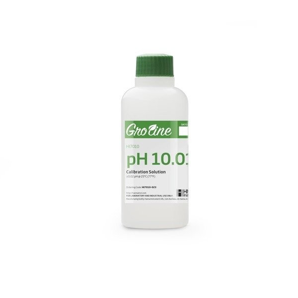HI7010-023 | GroLine pH 10.01 Calibration Buffer Solution, COA, 230ml