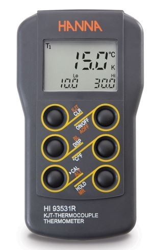 HI93531R 0.1° Resolution K-Type Thermocouple Thermometer with RS232 Output